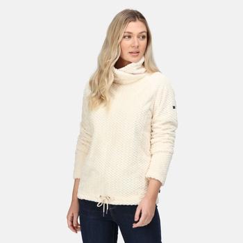 Bethan mittelschwerer, kuscheliger Fleece-Nackenwärmer für Damen Sahne