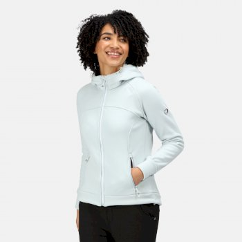 Meakin robustes Fleece mit durchgehendem Reißverschluss und Kapuze für Damen Blau