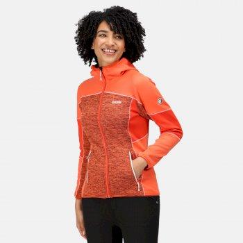Walbury II mittelschweres Fleece mit durchgehendem Reißverschluss und Kapuze für Damen Orange