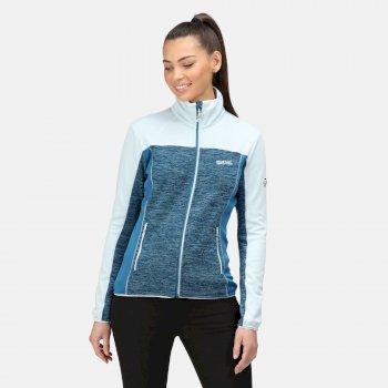 Lindalla II mittelschweres Fleece mit durchgehendem Reißverschluss für Damen Blau