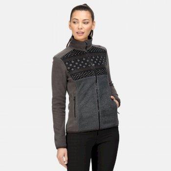 Ashlett mittelschweres Fleece mit durchgehendem Reißverschluss für Damen Grau