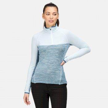 Hepley leichtes Fleece mit halblangem Reißverschluss für Damen Blau