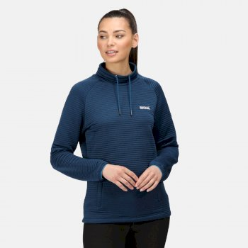Bawdon mittelschwer-geripptes Fleece für Damen Blau