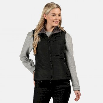 Regatta Women's Westlynn Insulated Fur Trimmed Bodywarmer - Black