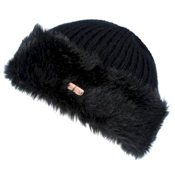 Regatta Women's Ludz Faux Fur Trim Knitted Hat Black