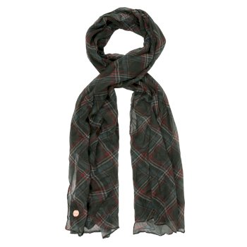 Regatta Women's Peggie II Printed Scarf - Dark Khaki Check