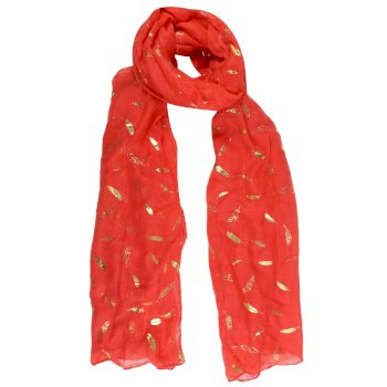 Regatta Women's Sancia Printed Scarf - Red Sky Feather Print