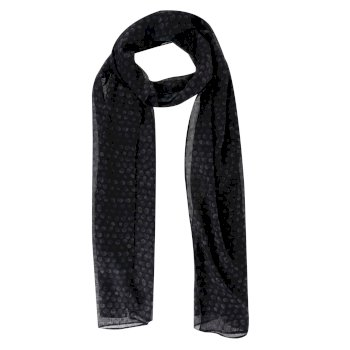 Regatta Women's Sancia Printed Scarf - Black Animal Print