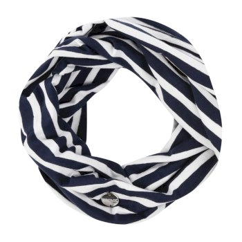 Regatta Shaila Striped Jersey Scarf Navy