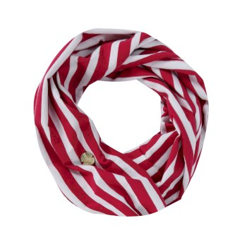 Regatta Shaila Striped Jersey Scarf Dark Cerise