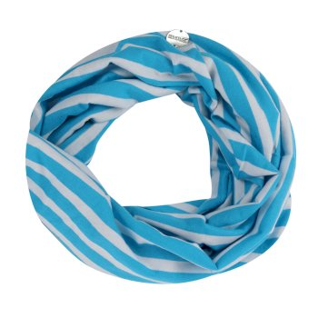 Regatta Shaila Striped Jersey Scarf Azure Blue