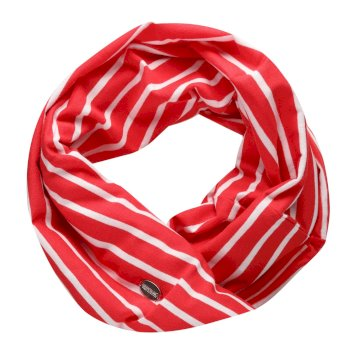 Regatta Women's Shaila Striped Jersey Scarf - True Red White