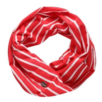 Shaila Gestreifter Schal In Jersey-Qualität Rot