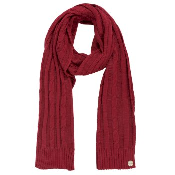 Regatta Multimix II Cable Knit Scarf Rumba Red