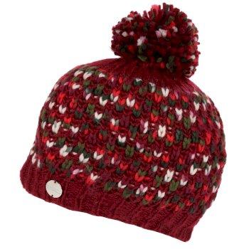 Frosty III - Damen Bommelmütze Delhi-Rot
