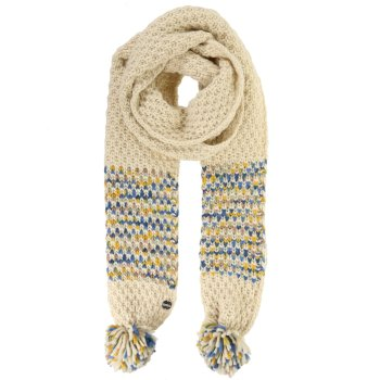 Women's Frosty III Pom Pom Scarf Light Vanilla