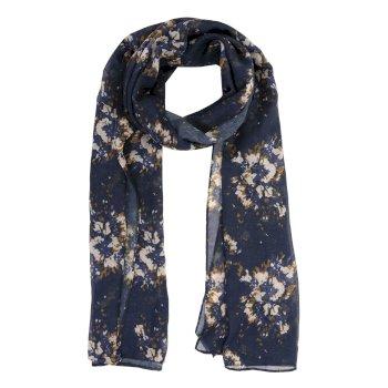 Peggie III - Damen Schal mit Blumenprint Navy