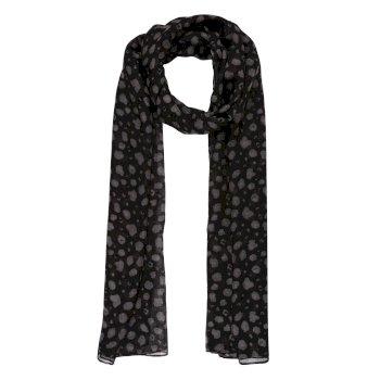Peggie III bedruckter Schal für Damen Schwarz