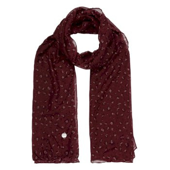 Peggie III bedruckter Schal für Damen Rot