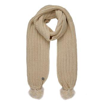 Lovella - Damen Schal mit Bommeln Vanille