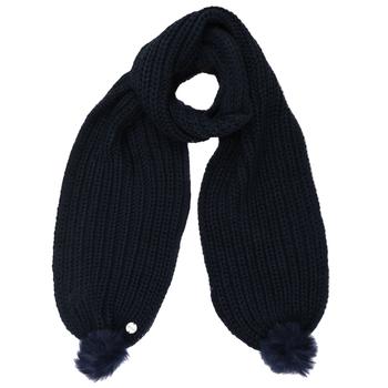 Lovella Schal mit Bommeln für Damen Blau