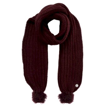 Regatta Women's Lovella Pom Pom Scarf - Dark Burgundy