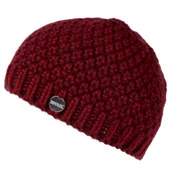 Kaena - Damen Beanie-Mütze - gestrickt Delhi-Rot
