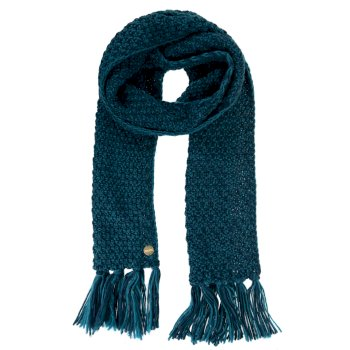 Women's Kaena Knitted Fringe Scarf Deep Teal