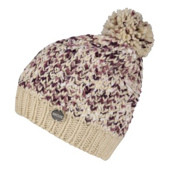 Regatta Women's Lorelai II Chunky Acrylic Knit Bobble Hat - Light Vanilla
