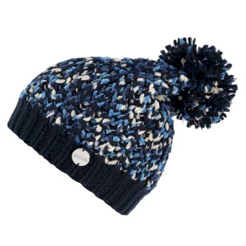 Regatta Women's Lorelai II Chunky Acrylic Knit Bobble Hat - Navy