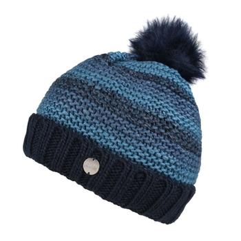 Frosty IV Strickmütze mit Bommel und Fleecefutter für Damen Blau