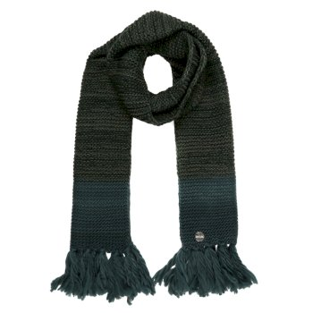 Regatta Women's Frosty IV Knitted Fringe Hem Scarf - Darkest Spruce