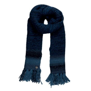 Regatta Women's Frosty IV Knitted Fringe Hem Scarf - Navy