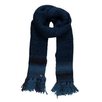 Frosty IV Strickschal mit Fransensaum für Damen Blau