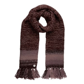 Regatta Women's Frosty IV Knitted Fringe Hem Scarf - Deep Burgundy