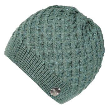 Multimix Diamond Acryl-Strickmütze für Damen Grün