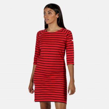 Hatsy bedrucktes Kleid für Damen Rot