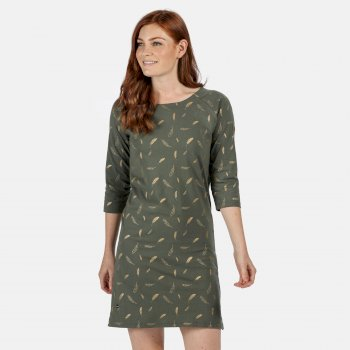 Hatsy bedrucktes Kleid für Damen Grün