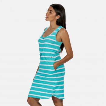 Regatta Women's Felixia Striped Sleeveless Dress - Ceramic Blue