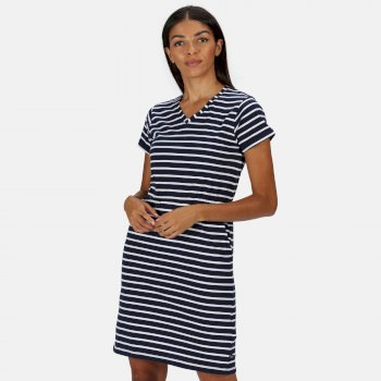 Havilah Coolweave-Jerseykleid für Damen Blau