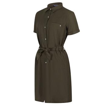 Quinty Hemdkleid mit kurzen Ärmeln für Damen Grün