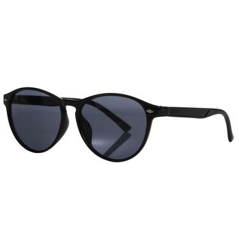 Salvadora adrette, runde Sonnenbrille für Damen Schwarz
