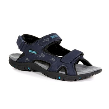 Regatta Women's Haris Lightweight Walking Sandals - Navy Black