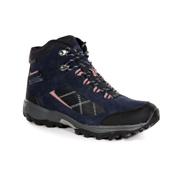 Women's Clydebank Mid Walking Boots Navy Ash Rose