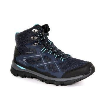 Regatta Women's Kota Mid Walking Boots Navy Blazer Aqua