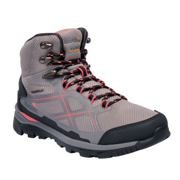 Regatta Women's Kota Mid Walking Boots - Rock Grey Neon Peach