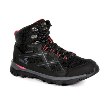 Regatta Women's Kota Mid Walking Boots - Black Rosebud