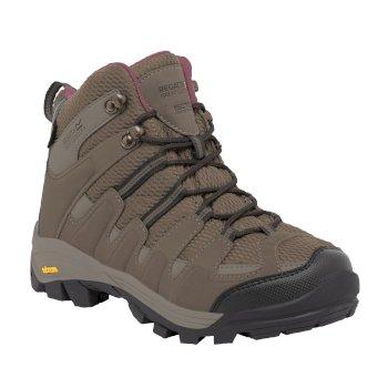 Women's Burrell Hiking Boots Walnut Deco Rose