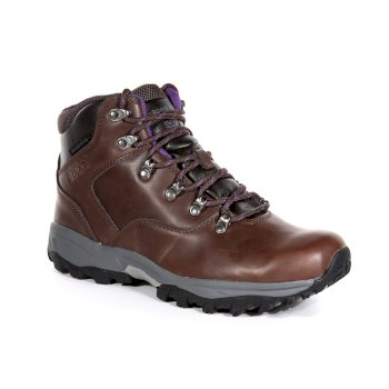 Regatta Women's Bainsford Waterproof Hiking Boots - Chestnut Alpine Purple