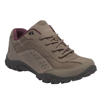 Regatta Women's Stonegate Walking Shoes - Walnut Dusky Rose